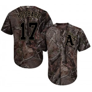 Men's Majestic Oakland Athletics #17 Glenn Hubbard Authentic Camo Realtree Collection Flex Base MLB Jersey