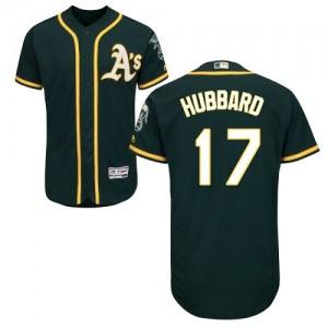 Men's Majestic Oakland Athletics #17 Glenn Hubbard Green Alternate Flex Base Authentic Collection MLB Jersey