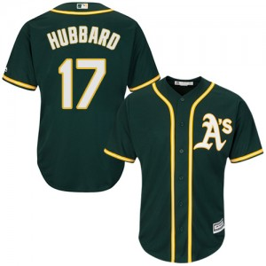 Men's Majestic Oakland Athletics #17 Glenn Hubbard Replica Green Alternate 1 Cool Base MLB Jersey