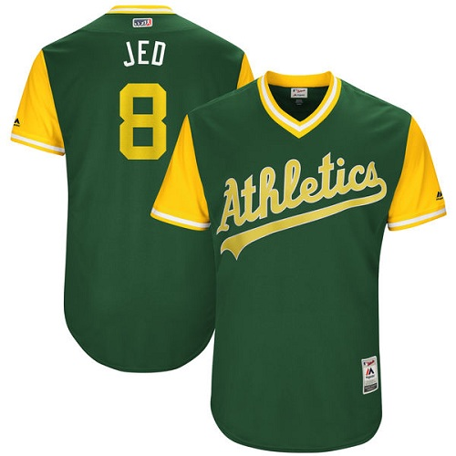 Men's Majestic Oakland Athletics #8 Jed Lowrie