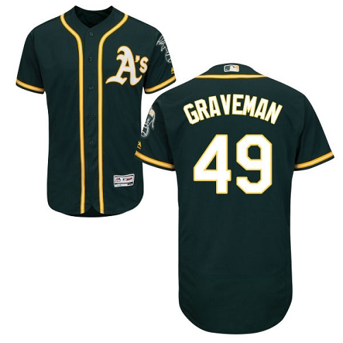 Men's Majestic Oakland Athletics #49 Kendall Graveman Green Flexbase Authentic Collection MLB Jersey