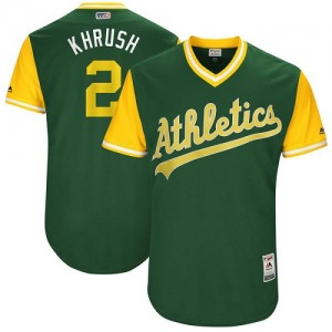 Men's Majestic Oakland Athletics #2 Khris Davis